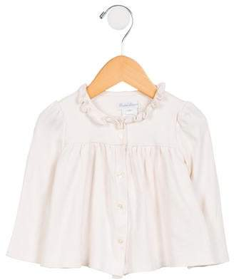 Ralph Lauren Girls' Long Sleeve Button-Up Top