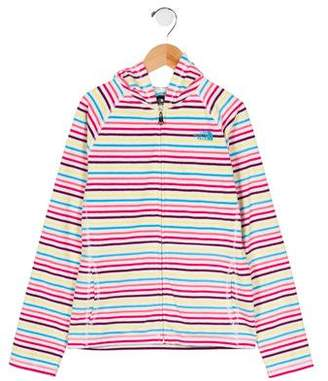 The North Face Girls' Striped Hooded Sweatshirt