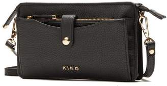 Kiko Leather Wallet Leather Crossbody Bag