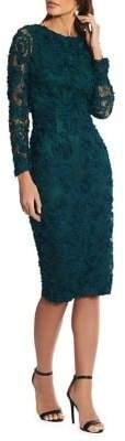 Xscape Evenings Soutache Floral Lace Sheath Dress