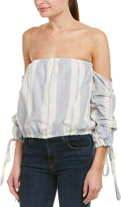 Young Fabulous & Broke Bijou Linen-Blend Top