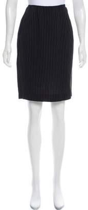 Gianfranco Ferre Pinstripe Knee-Length Skirt