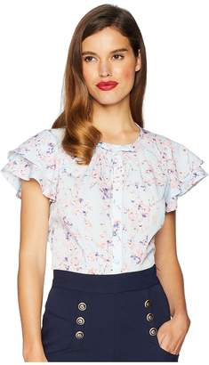 Unique Vintage Jeannie Blouse Women's Blouse