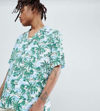 Reclaimed Vintage inspired revere collar printed hawaiian shirt