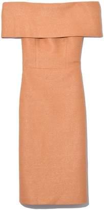 Manning Cartell Golden Ticket Off Shoulder Dress in Caramel