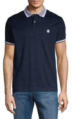 Roberto Cavalli Jacquard Stripe-Trimmed Cotton Polo