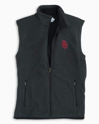 Southern Tide Gameday Sweater Fleece Vest - University of Oklahoma