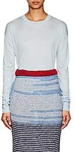 Calvin Klein Women's Mélange Silk Crewneck Sweater - Blue