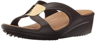 Crocs Women's Sanrah Embellished Wedge Sandal