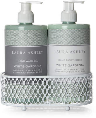 Laura Ashley White Gardenia Blossoming Hand Care Duo Caddy