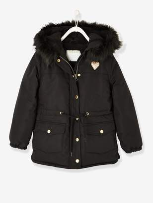 Vertbaudet Parka with Sherpa Lining for Girls