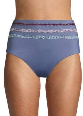 Dolce Vita High-Waist Textured Bikini Bottom