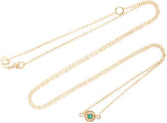 Octavia Elizabeth 18K Gold Emerald Necklace