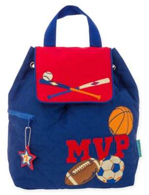 Stephen Joseph Sports MVP Quilted Backpack in Blue