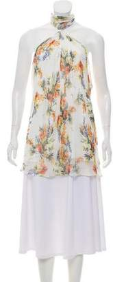 Haute Hippie Printed Silk Top