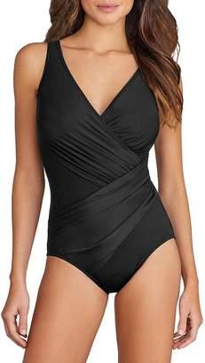 Miraclesuit Swimsuit 1 Piece Oceanus Bonnet E a G Noir