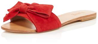 Raye Sandy Suede Knotted Bow Slide Sandals