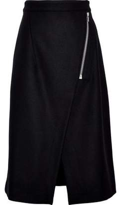 Acne Studios Panna Wool-Blend Wrap Skirt