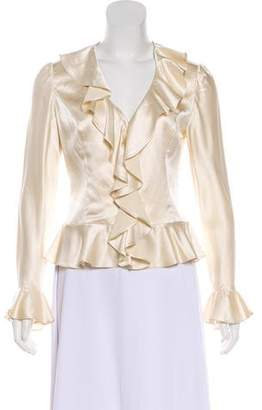 Bloomingdale's Silk Ruffled Blouse