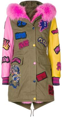 Philipp Plein patch detail parka