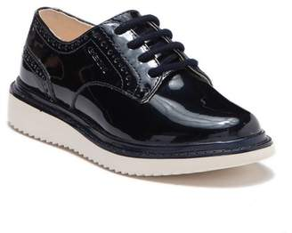 Geox Thymar Perforated Patent Leather Oxford (Toddler & Little Kid)