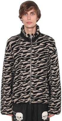 Lost Daze Ca Zip-up Wool Blend Casual Jacket