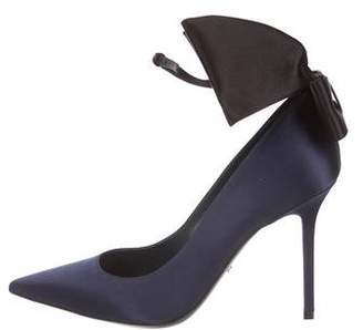 Christian Dior Satin Bow-Accented Pumps