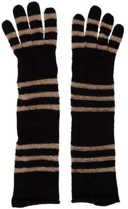 Portolano Striped Knit Gloves