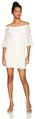 Jump Junior's Off The Shoulder Lace Dress Bell Sleeve