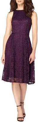 Women's Tahari Lace Fit & Flare Midi Dress $138 thestylecure.com