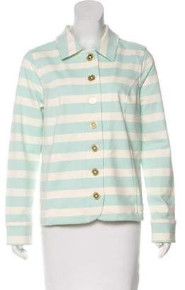 Isaac Mizrahi Live! Knit Striped Jacket