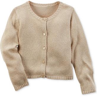 Carter's Gold Cardigan Sweater, Little Girls (2-6X) $30 thestylecure.com