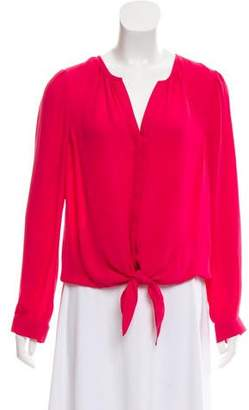 Joie Silk Long Sleeve Top