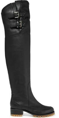RED Valentino Leather Over-The-Knee Boot
