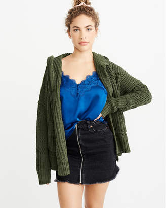 Abercrombie & Fitch Oversized Chenille Hooded Cardigan