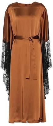 Christopher Kane Satin and lace kimono dress