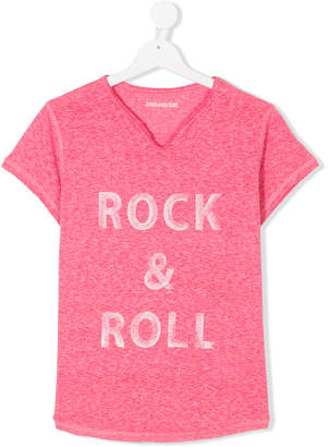 Zadig & Voltaire Kids TEEN rock n roll T-shirt