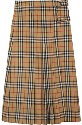 Burberry checked midi skirt