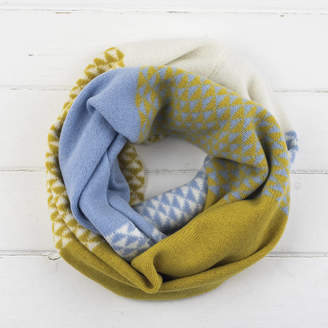Miss Knit Nat Triangle Knitted Circle Scarf In Piccalilli
