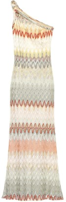 Missoni One-shoulder knitted maxi dress