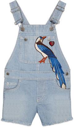 Children's embroidered denim overall $565 thestylecure.com