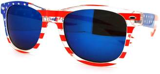Revo MJ Boutique Blue Frame American Flag Stars Stripe Pint Wayfarer Sunglasses