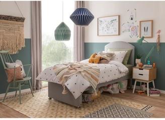 Silentnight Maxi Store Divan Bed Set With Kids Sprung Matress   Grey