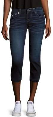 True Religion Faded Capri Jeans