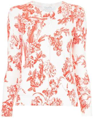 Oscar de la Renta floral print cardigan