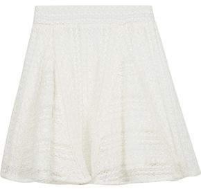 IRO Teejay Crocheted Cotton-Blend Mini Skirt