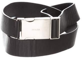 Prada Leather Clasp Closures Black Leather Clasp Closures
