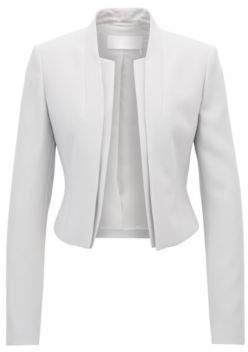 BOSS Hugo Regular-fit cropped jacket layered effect 14 Silver