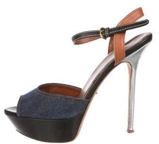 Sergio Rossi Platform Ankle Strap Sandals