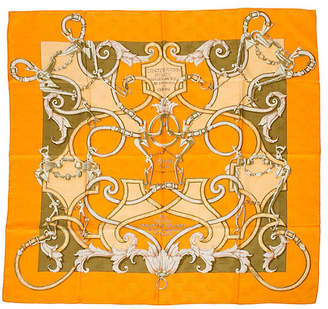 One Kings Lane Vintage Hermès L 'Instruction du Roi Silk Scarf